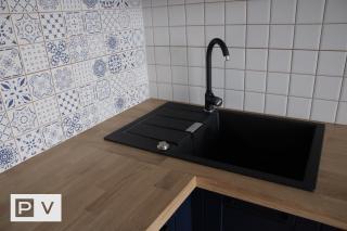 Кухня с крашеными фасадами МДФ (Ирпень)